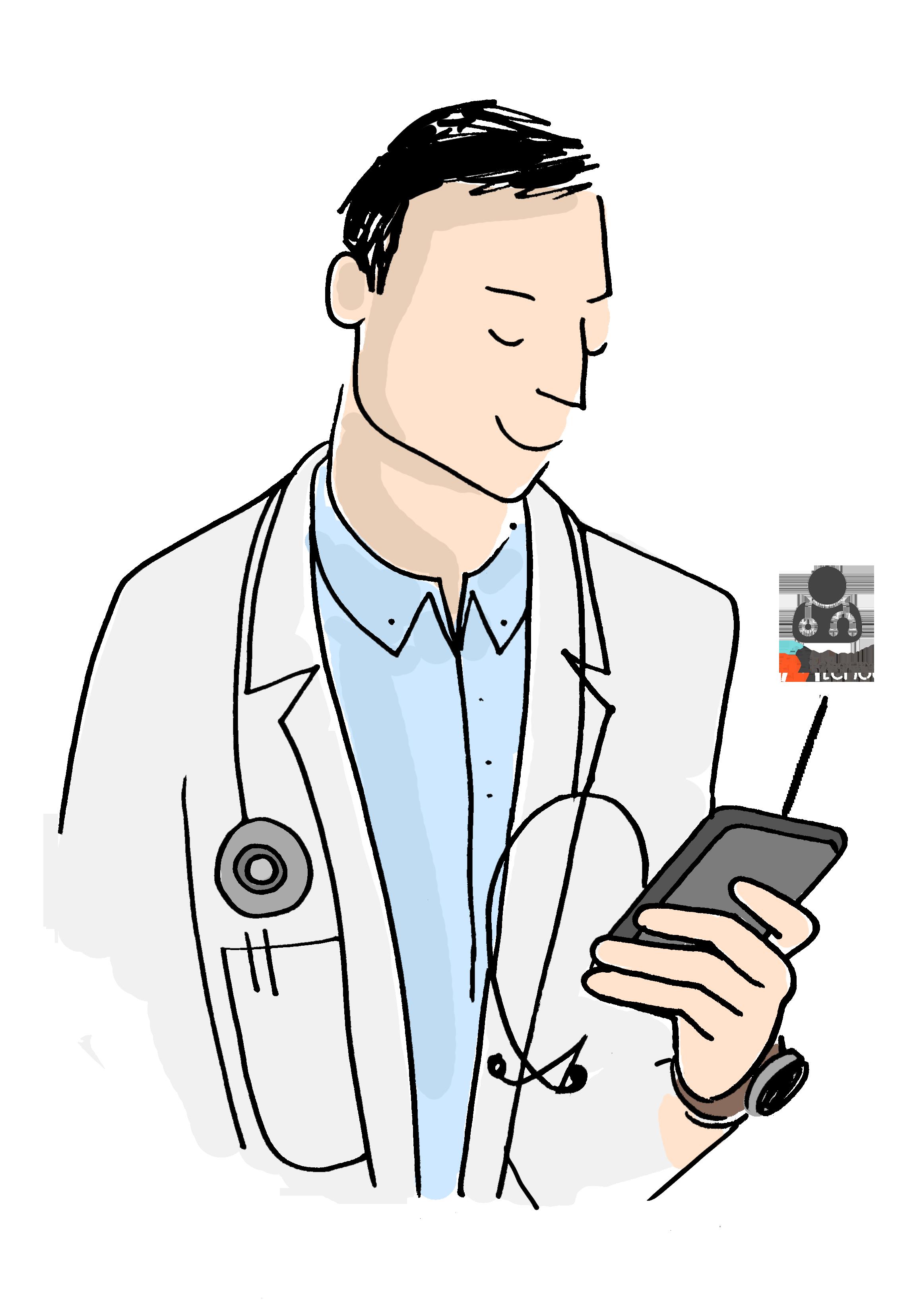 Medecin+smartphone
